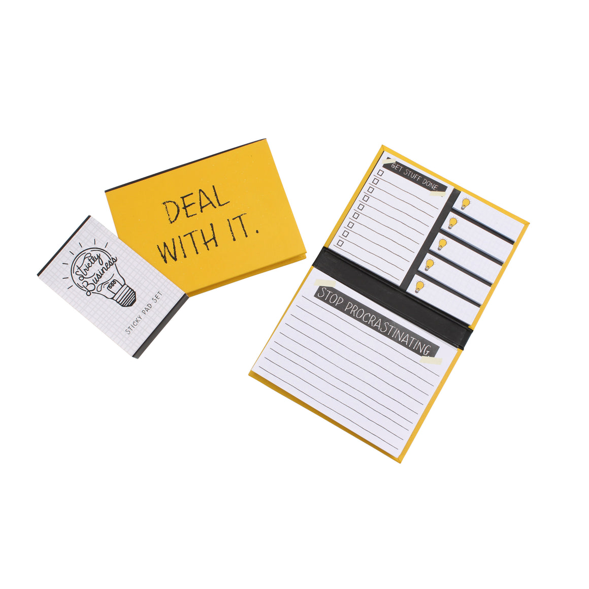 Strictly Business 'Deal With It' Mini Post It Set - The Love Trees