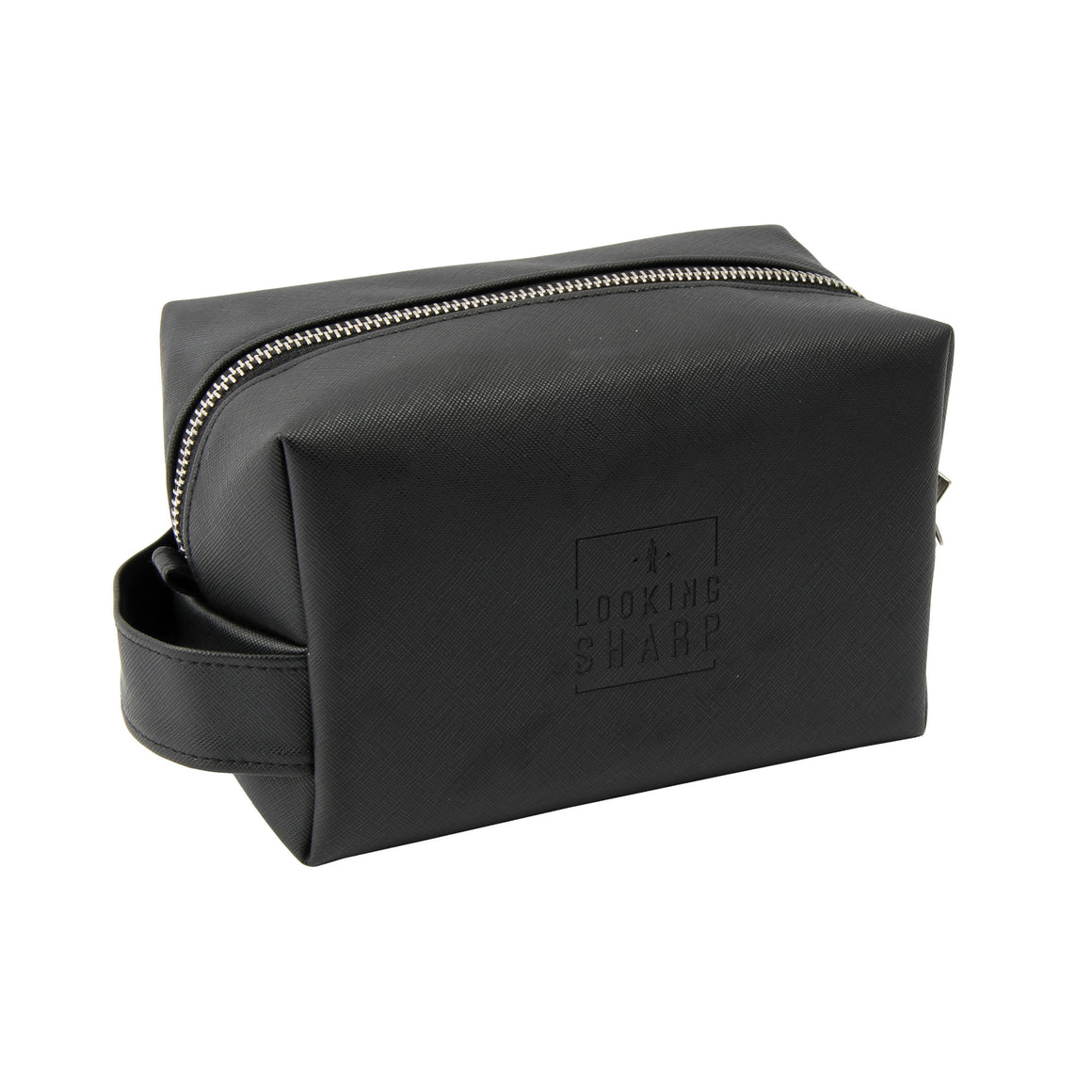 Dapper Chap 'Looking Sharp' Mens Black Wash Bag - The Love Trees