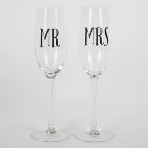 Mr & Mrs Champagne Glasses - The Love Trees