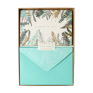 Boxed Notecards Gold Fern - A Note To Say - The Love Trees