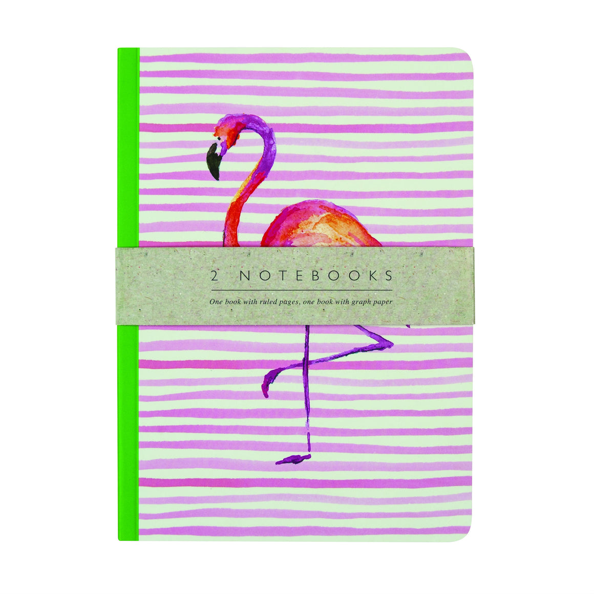 Flamingo & Lemon + Lime Notebooks - Set of 2 - The Love Trees
