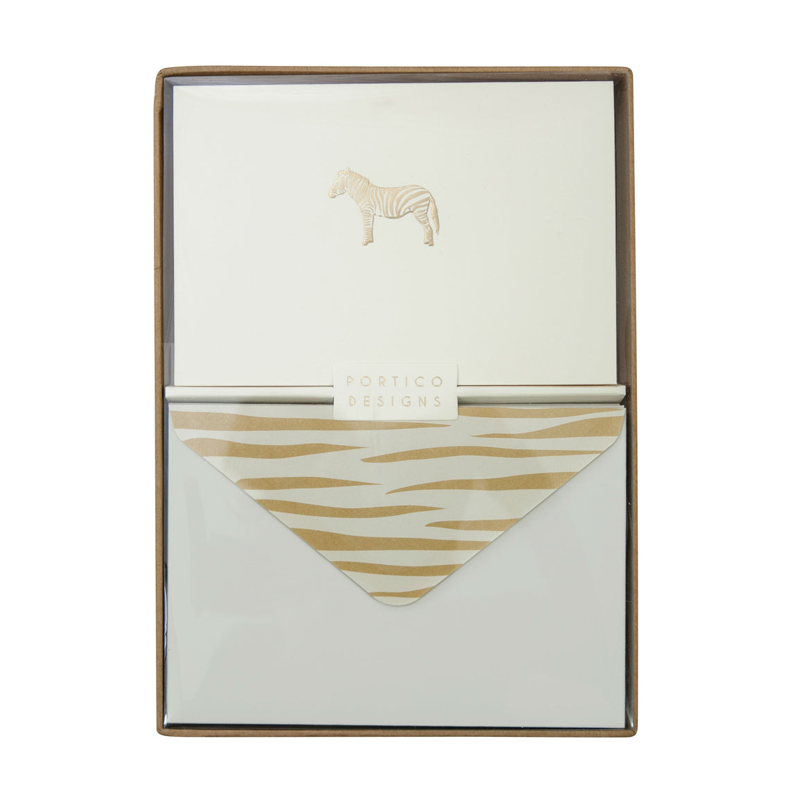 Boxed Notecards Gold Zebra - The Love Trees