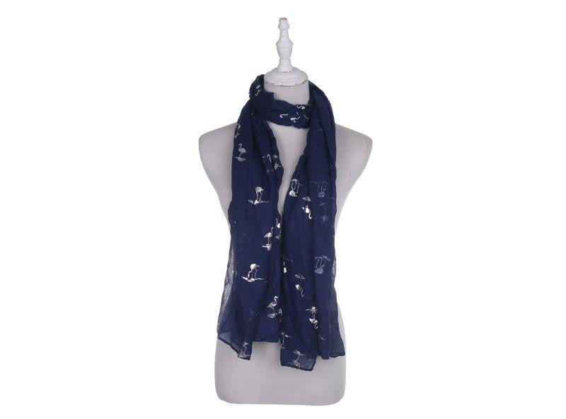 Glitter Flamingo Women's Scarf - Blue - The Love Trees