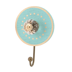 Teal Single Round Wall Hook