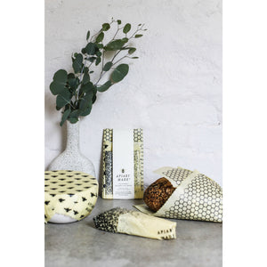 Apiary Made Hand Printed Sustainable Beeswax Food Wraps 3 Pack - The Love Trees