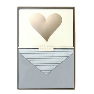 Boxed Notecards Gold Heart - The Love Trees