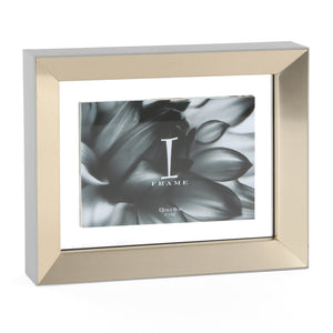"Aluminium Photo Frame 5"" x 3"" Grey & Gold - The Love Trees"