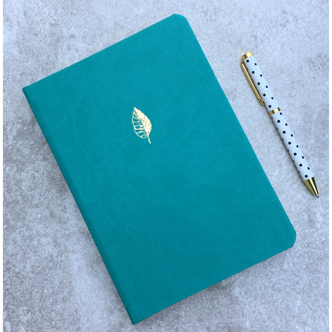 Sky + Miller Leaf A5 Faux Leather Notebook