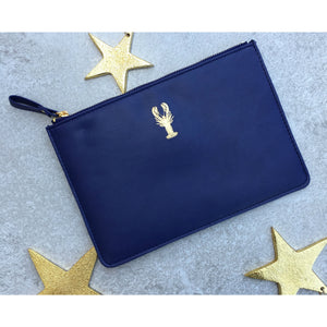 Sky + Miller Lobster Faux Leather Pouch