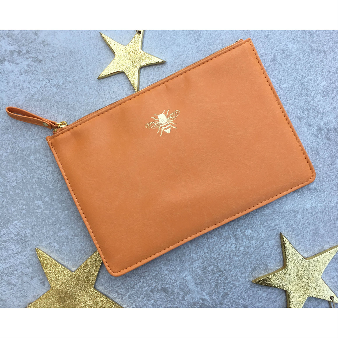 Sky + Miller Bee Faux Leather Pouch
