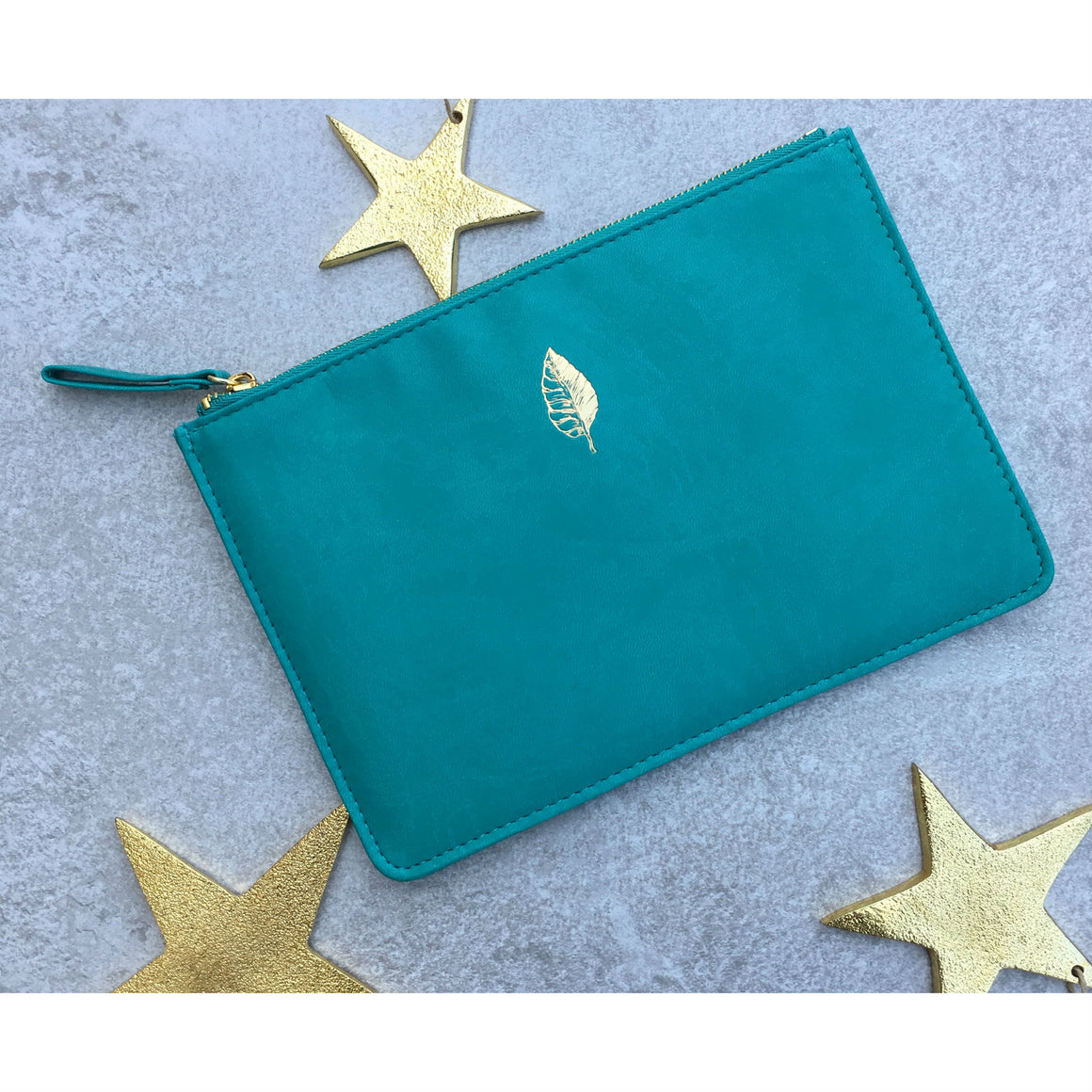 Sky + Miller Leaf Faux Leather Pouch