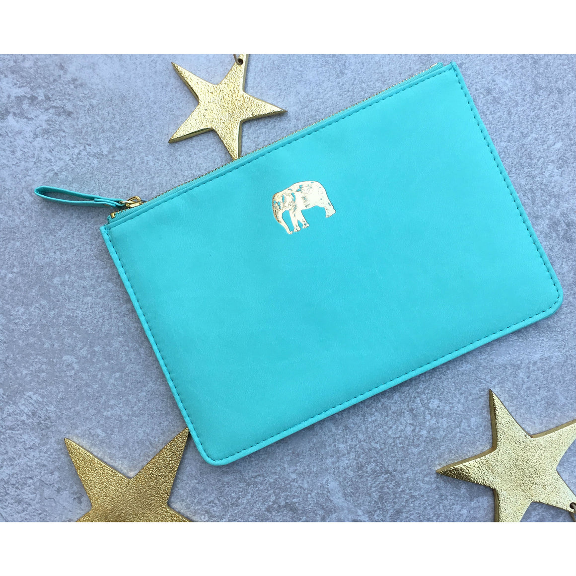 Sky + Miller Elephant Faux Leather Pouch