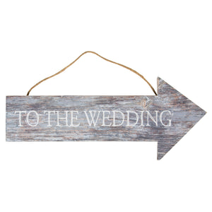 To The Wedding Coastal Chic Hanging Sign - The Love Trees