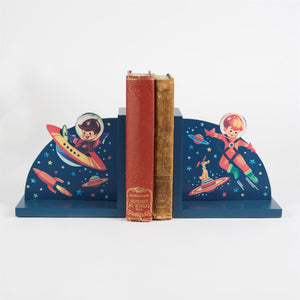 Retro Space Bookends - The Love Trees