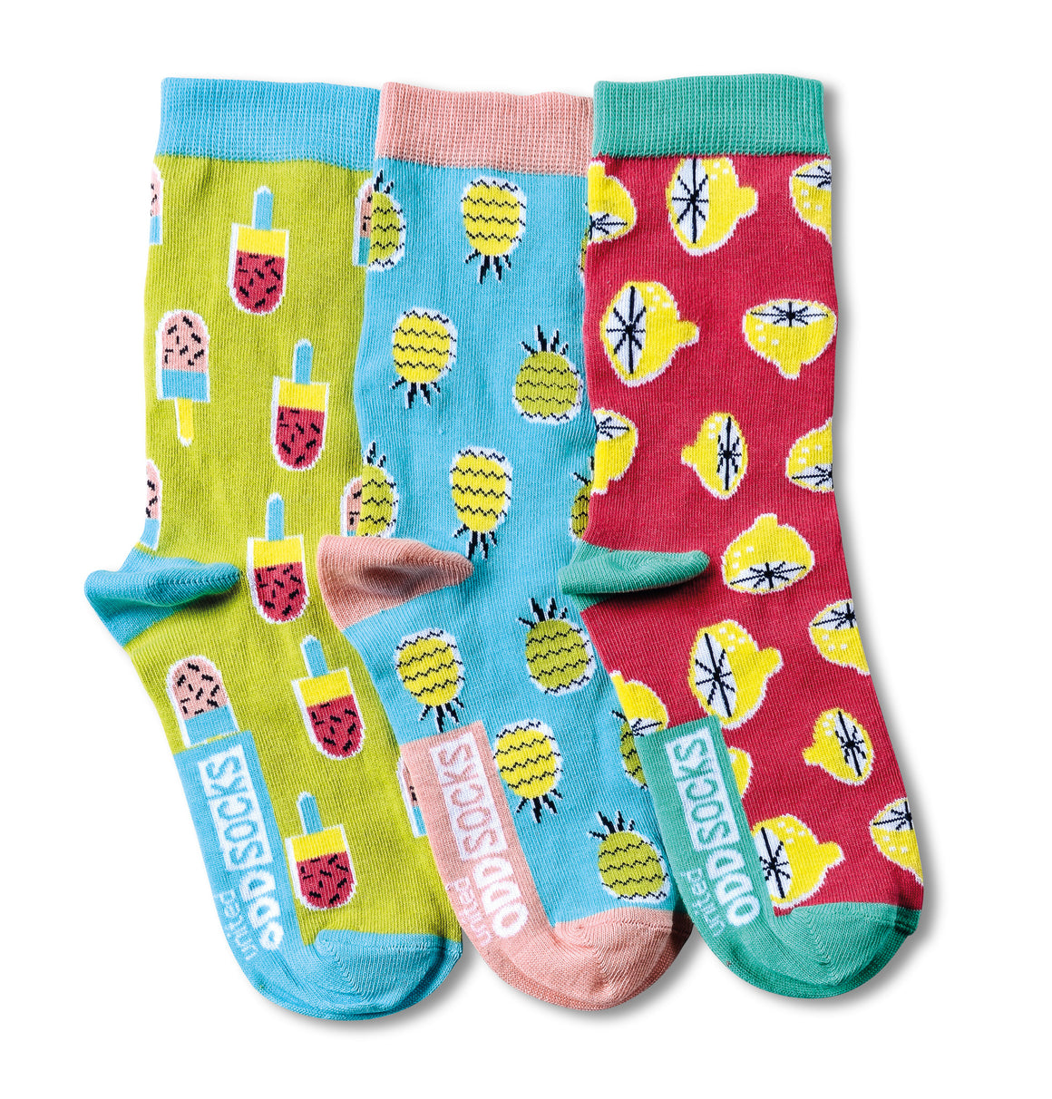 United Odd Socks Kitschy Girls 3 Pack