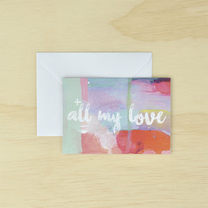 KaiserCraft ARTIST Card And Envelope Set 8 Pack - The Love Trees