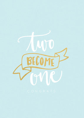 KaiserStyle Two Becomes One Congrats Greetings Card - The Love Trees