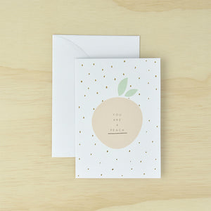 KaiserStyle You Are A Peach Greetings Card - The Love Trees