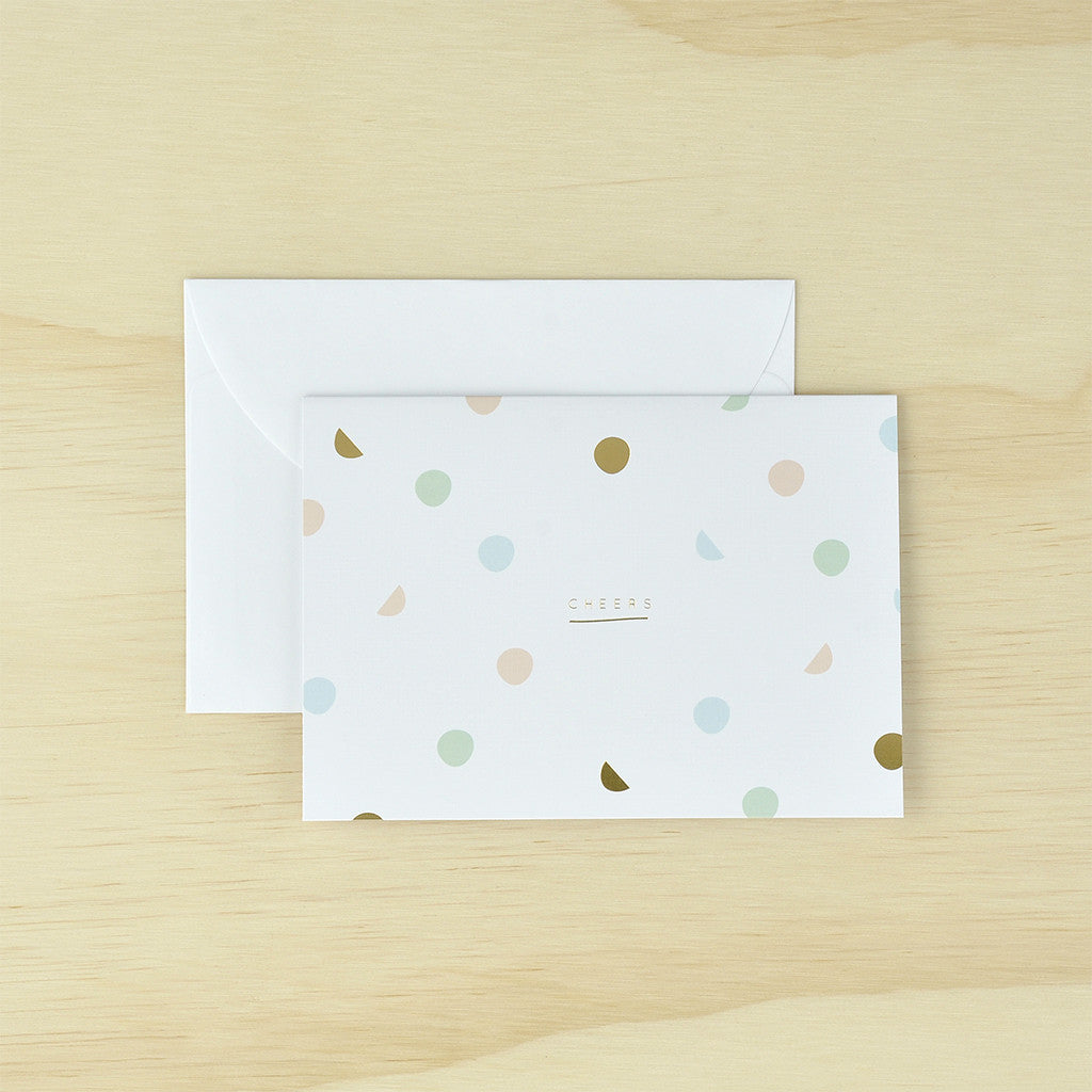 KaiserStyle Cheers Confetti Greetings Card - The Love Trees
