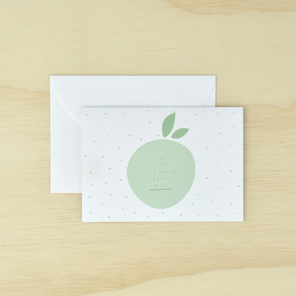 Kaiserstyle You Are The Apple Of My Eye Greetings Card The Love