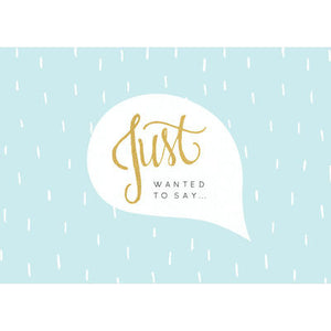 KaiserStyle 'Just Wanted To Say' Greetings Card - The Love Trees