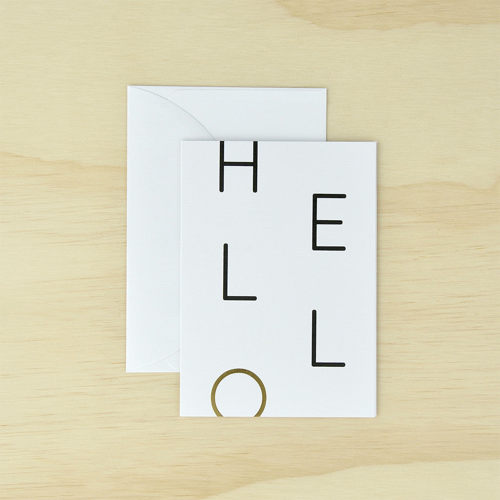 KaiserStyle 'Hello' Monochrome Greetings Card - The Love Trees