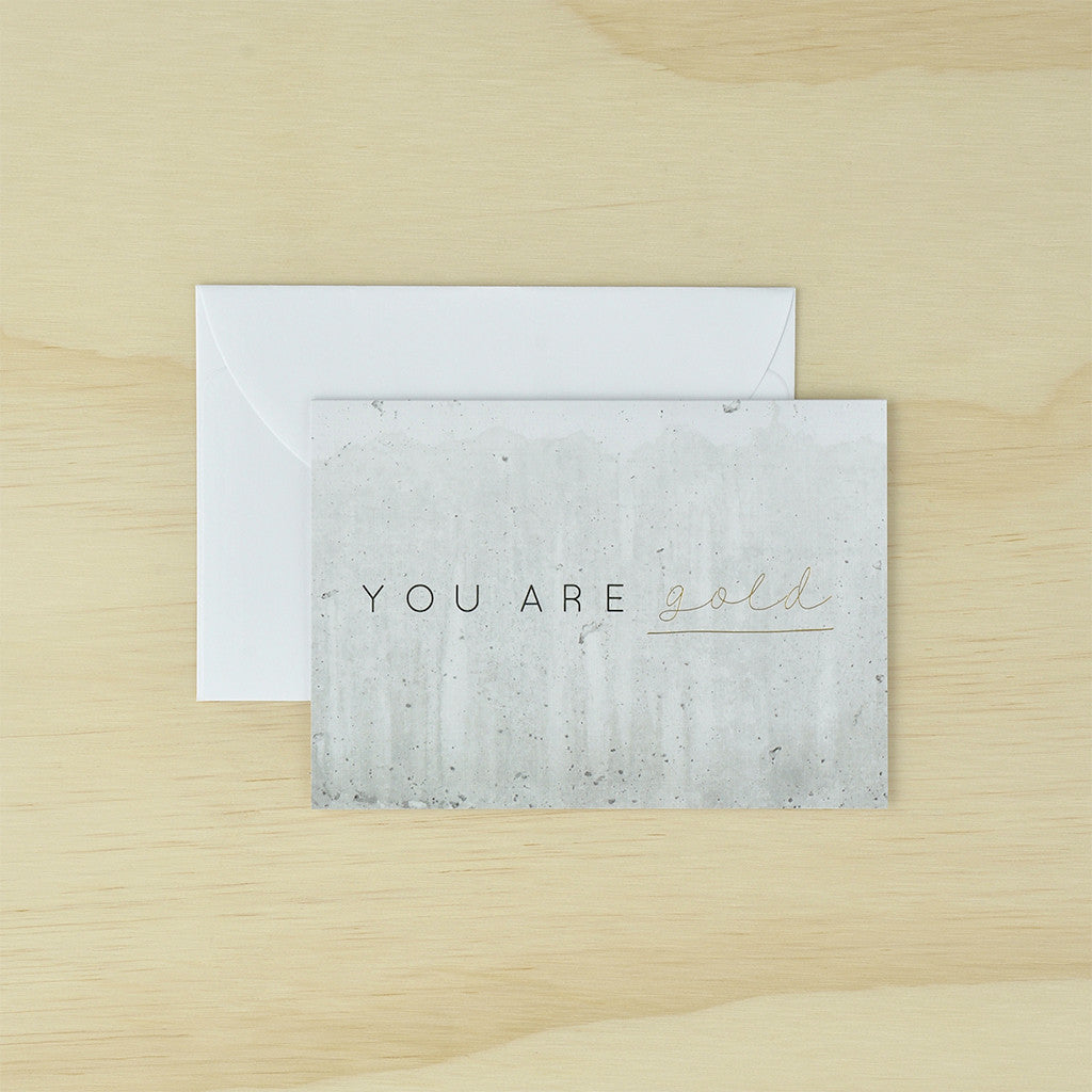 KaiserStyle 'You Are Gold' Monochrome Greetings Card - The Love Trees