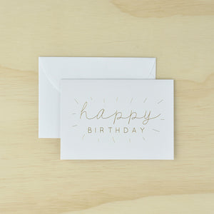 KaiserStyle 'Happy Birthday' Monochrome Greetings Card - The Love Trees