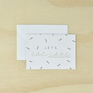 KaiserStyle 'Let's Eat Cake' Monochrome Greetings Card - The Love Trees