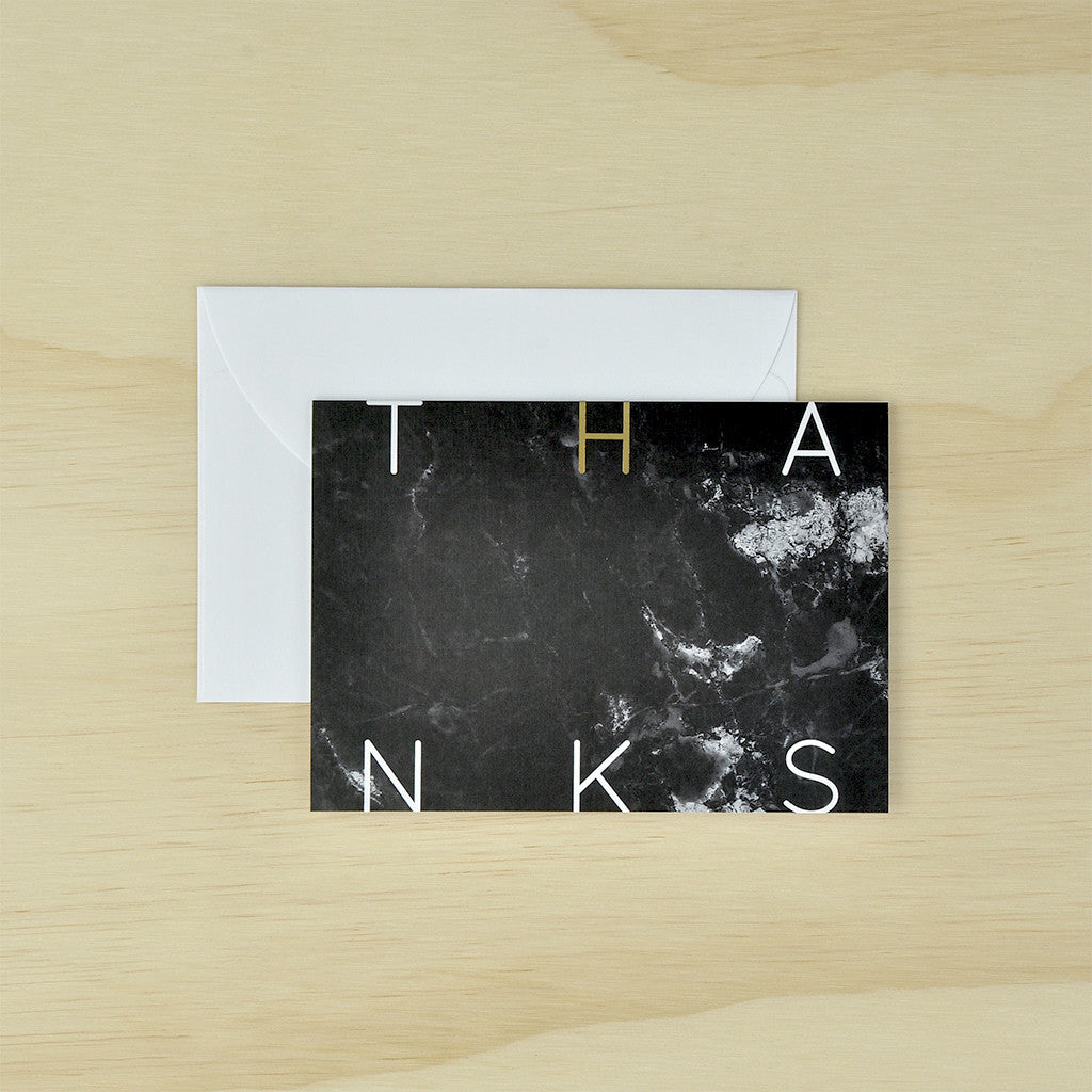 KaiserStyle 'Thanks' Monochrome Greetings Card - The Love Trees