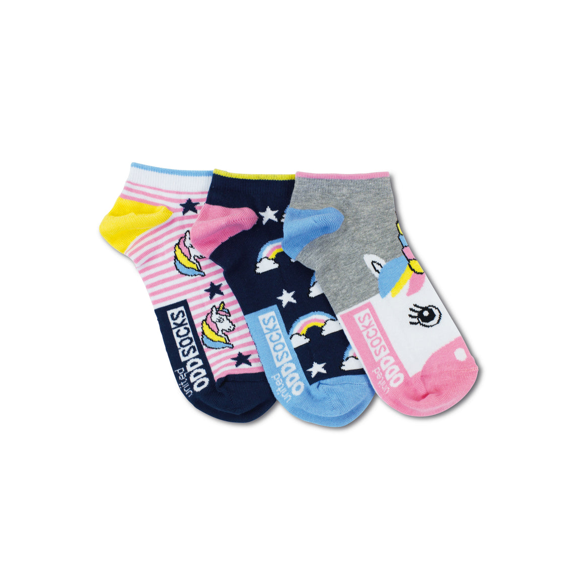 Odd Socks Unicorn Ladies Liner Socks 3 Pack