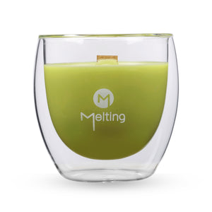 Melting Messages Lime, Vanilla and Coconut Double Wall Candle - The Love Trees