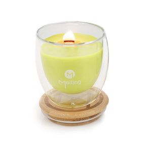 Melting Messages Lime, Vanilla and Coconut Double Wall Candle