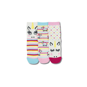 United Odd Socks Magic Unicorn Toddlers 3 Pack