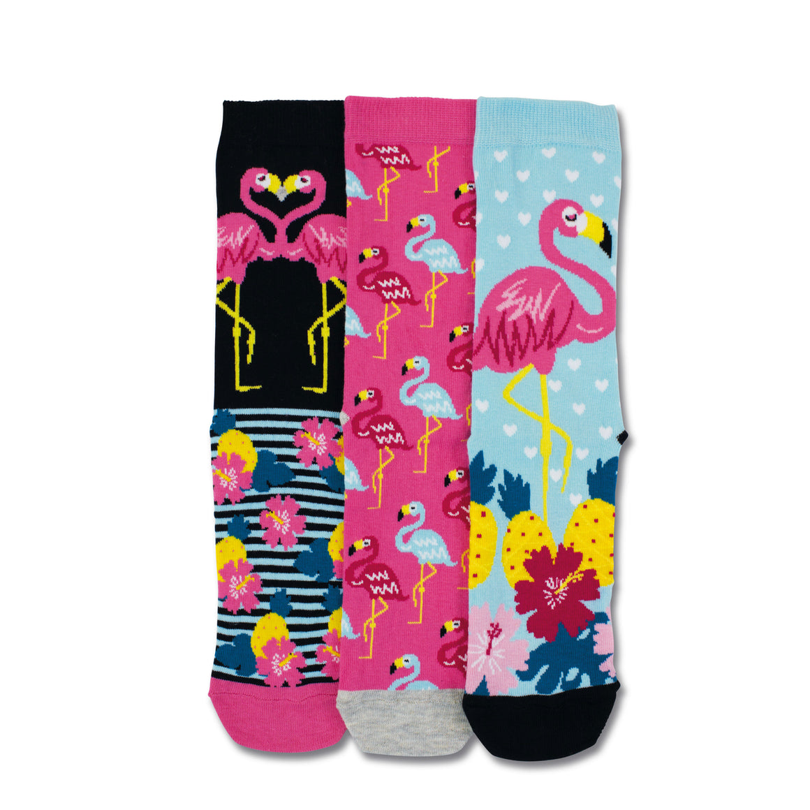 United Odd Socks Martha Flamingo Socks Ladies 3 Pack