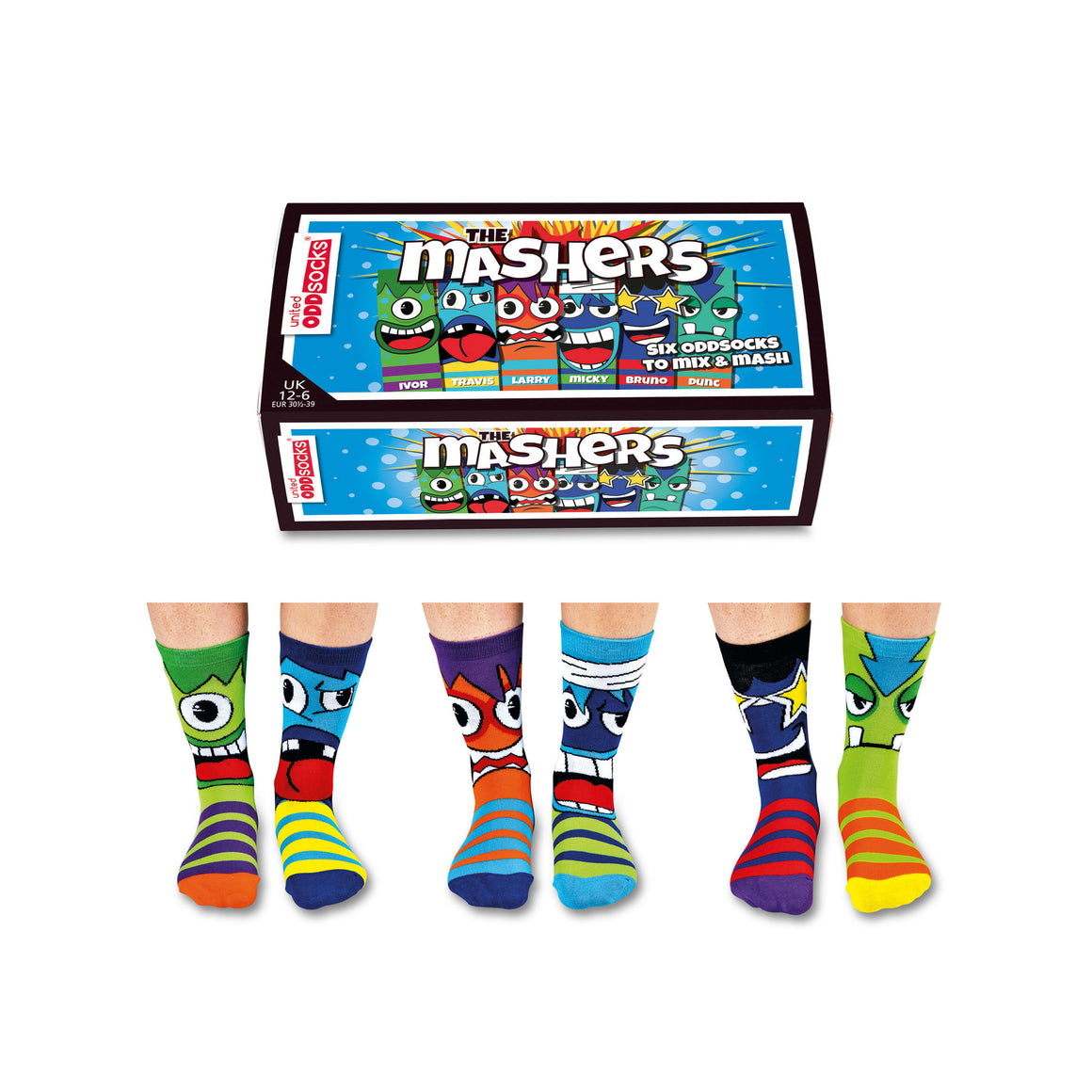 United Odd Socks The Mashers Boys Gift Box