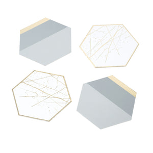 Modern Metallics Hexagonal Card Coasters - The Love Trees