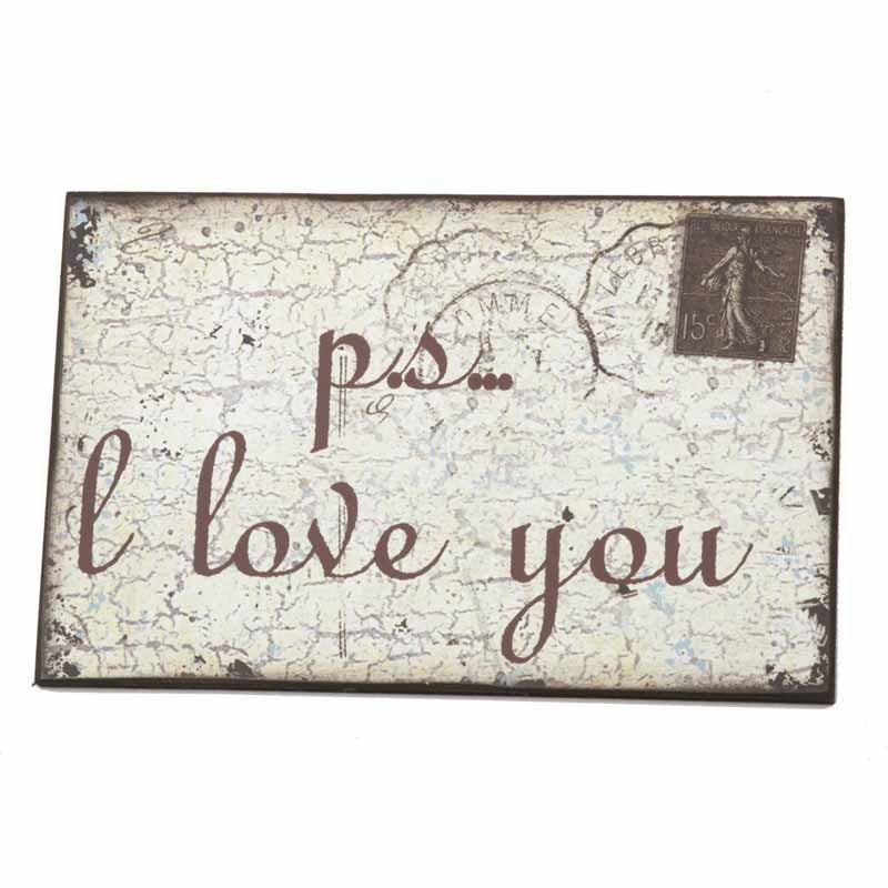 PS... I Love You Wooden Hanging Wall Sign