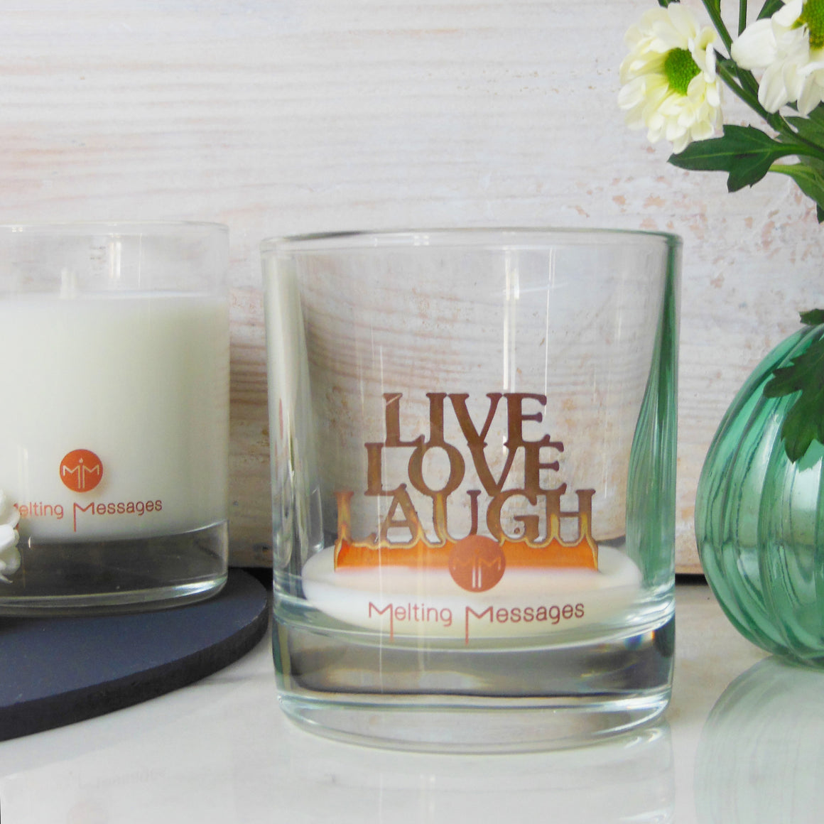 Melting Messages 'Live Love Laugh' Copper Candle - The Love Trees
