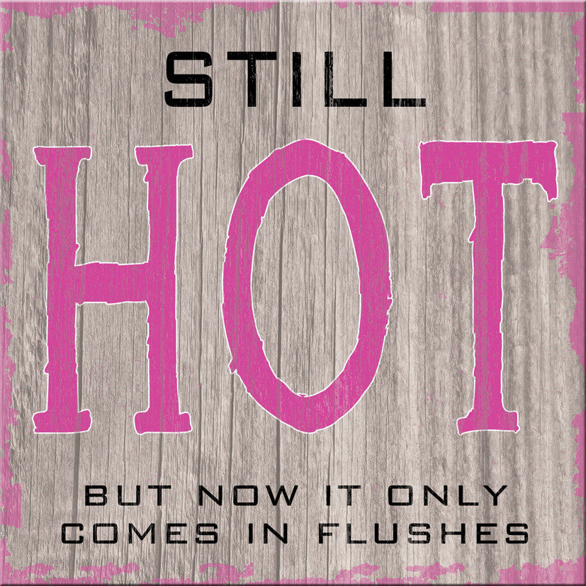 "'Still Hot But Now It Only Comes In Flushes' 6""x6"" Plaque - The Love Trees"