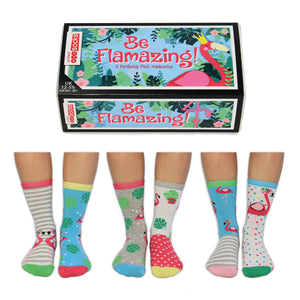 Odd Socks Be Flamazing Girls Gift Box