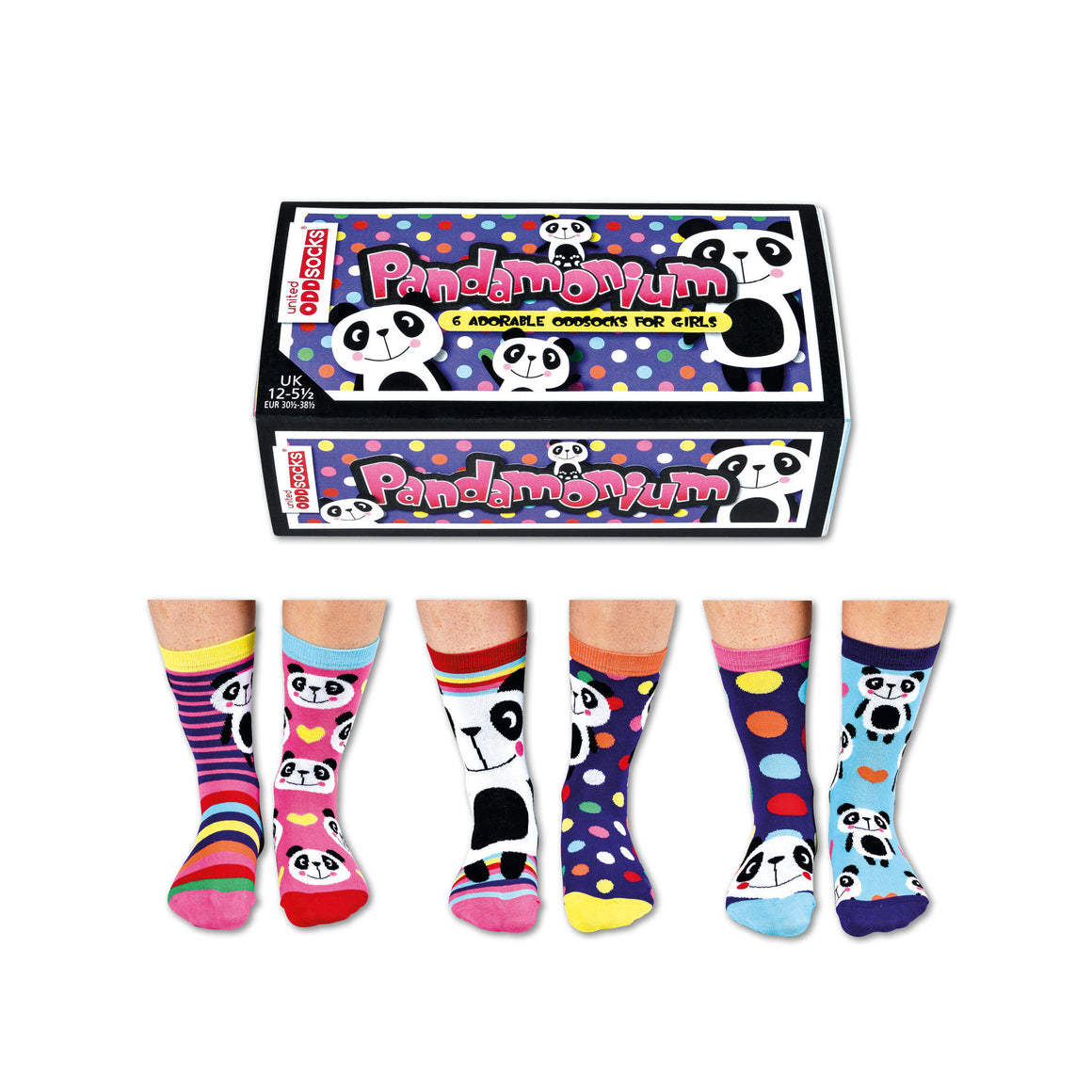 United Odd Socks Pandamonium Girls Gift Box