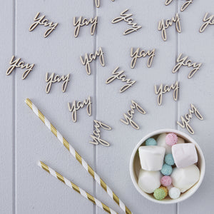 Wooden Yay Table Confetti - Pick & Mix - The Love Trees
