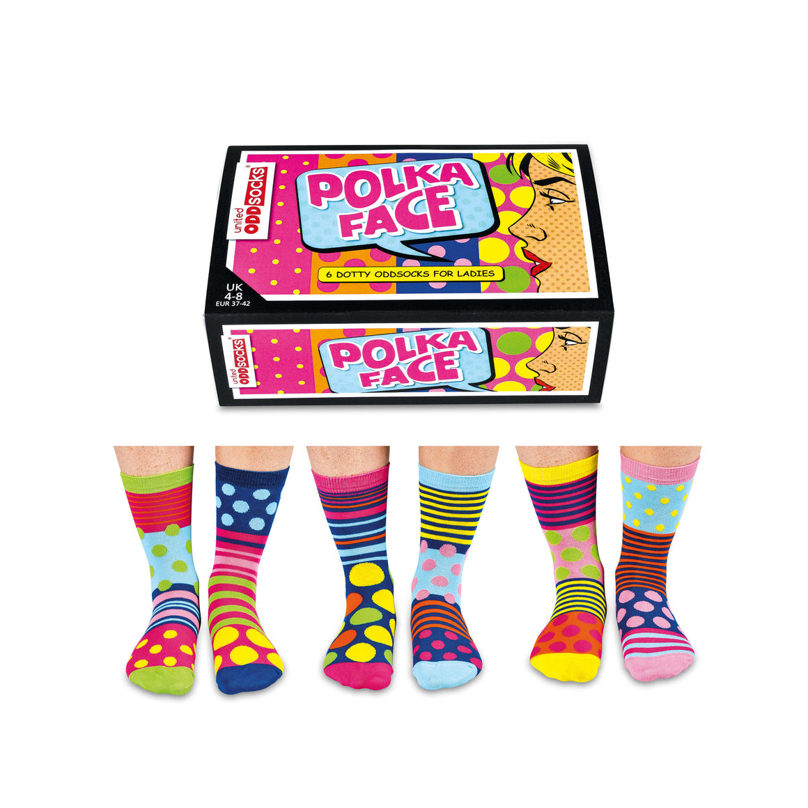 United Odd Socks Polka Face Ladies Gift Box - The Love Trees