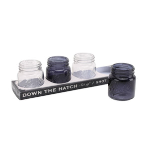 Dapper Chap 'Down The Hatch' Jar Shot Glasses - The Love Trees