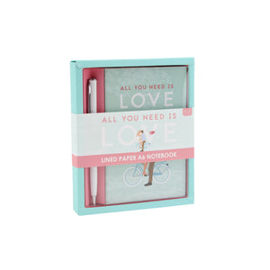 'All You Need Is Love' A6 Notebook & Pen Set - The Love Trees