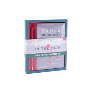 'Dance In The Rain' A6 Notebook & Pen Set - The Love Trees