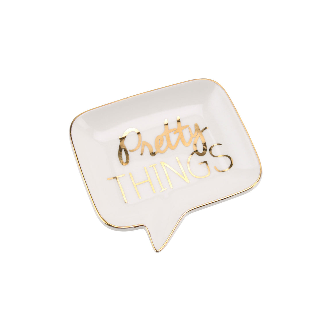 'Pretty Things' Speech Bubble Ceramic Jewellery Dish - The Love Trees