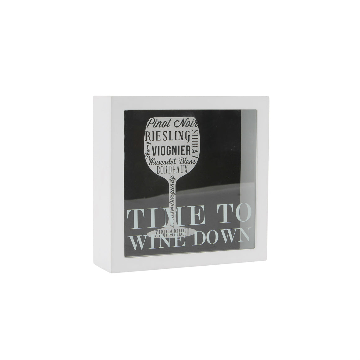 'Time To Wine Down' Wine Cork Shadow Box - The Love Trees