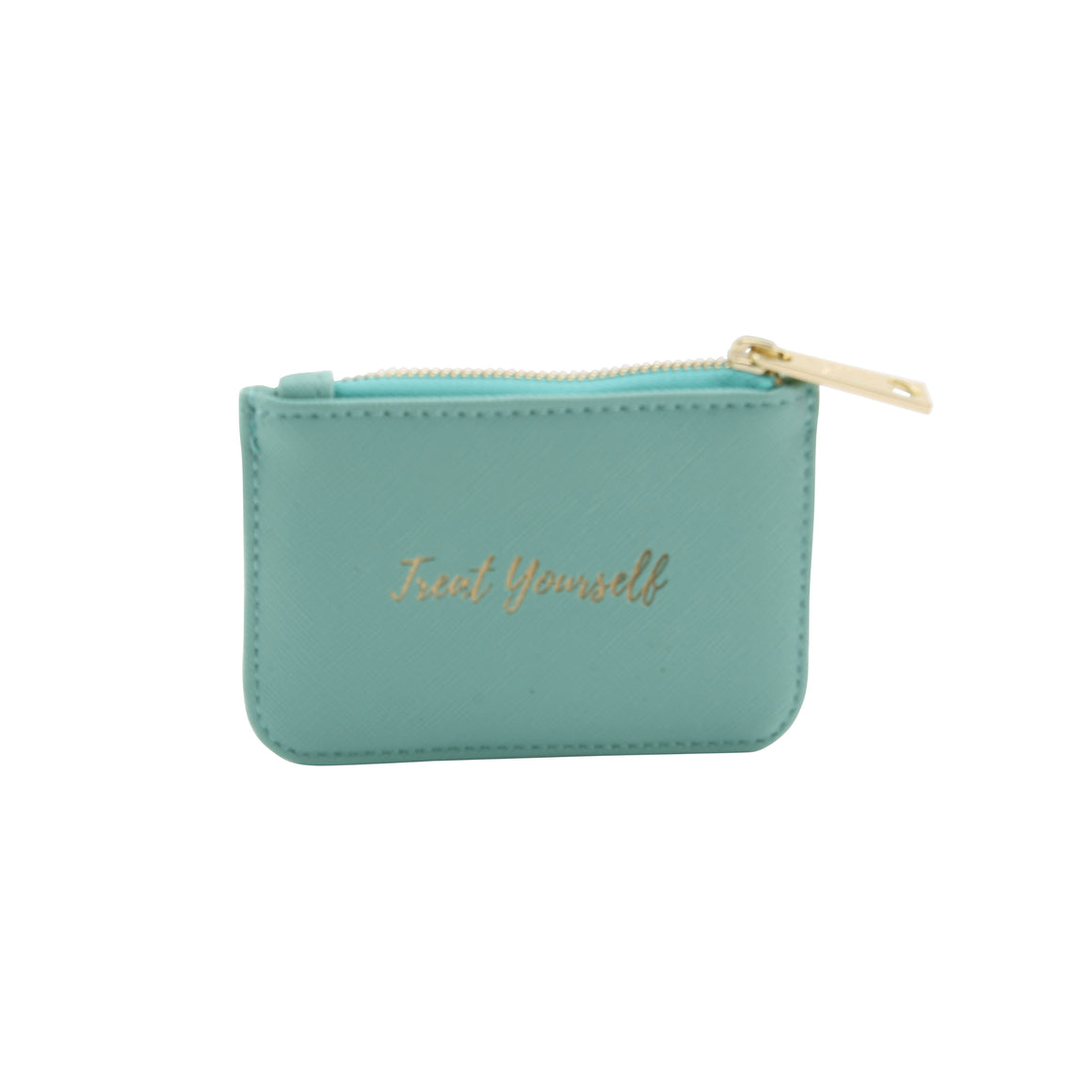 Willow & Rose 'Treat Yourself' Teal Coin Purse